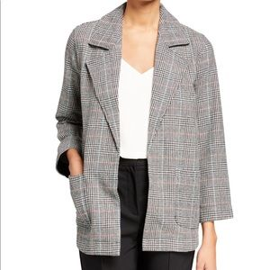 Neiman Marcus Leo + Sage Plaid Open Blazer Jacket